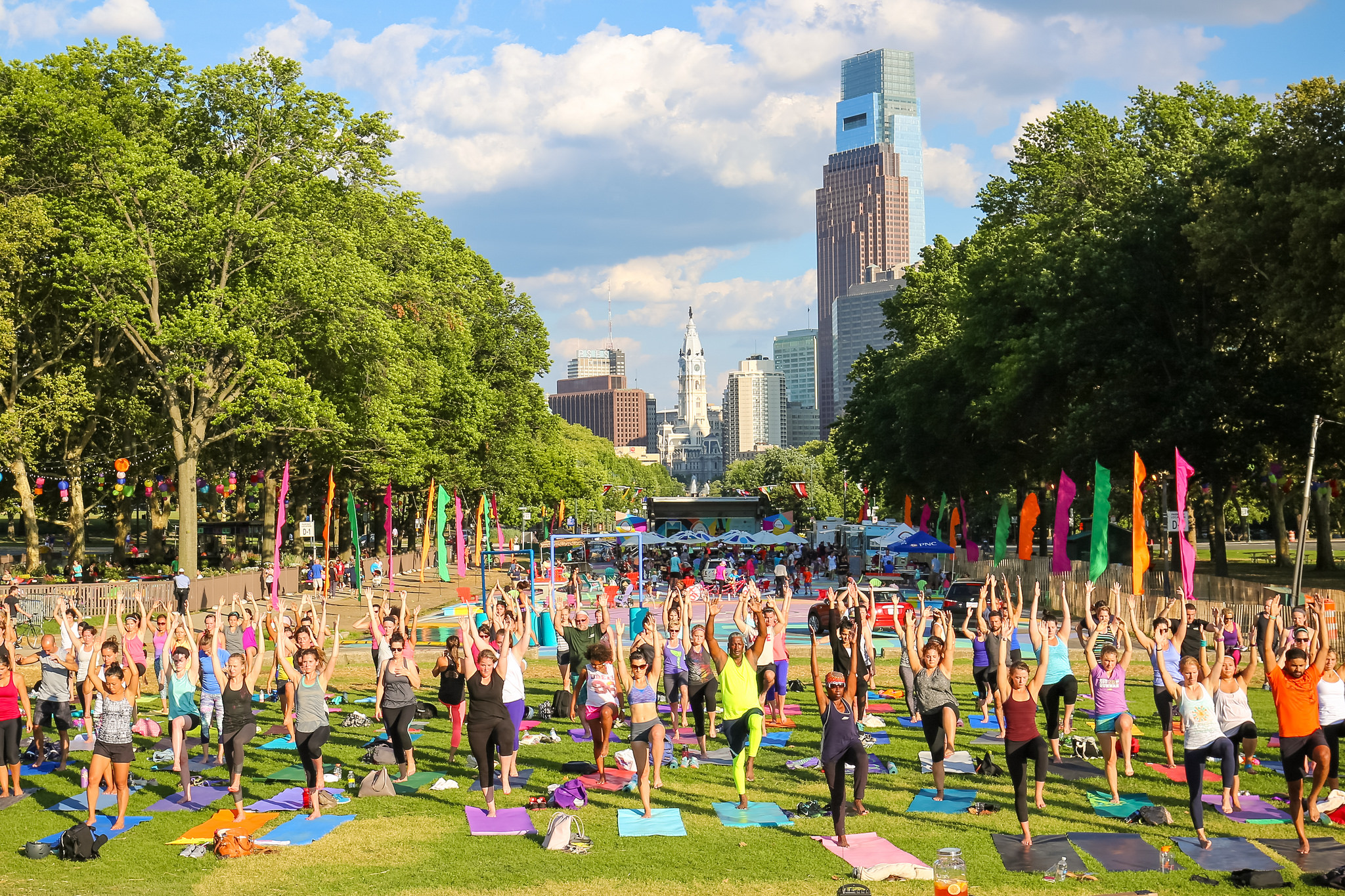 Yoga classes at The Oval